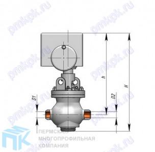 Клапан регулирующий поворотный со встроенным электроприводом 6с-12-1-1Э