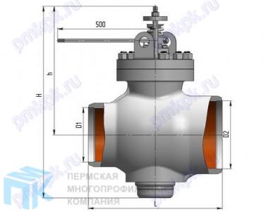 Клапан регулирующий поворотный 6с-13-4 (6с-9-4)