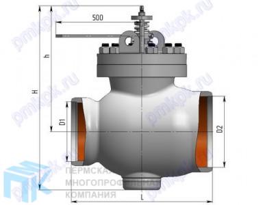 Клапан регулирующий поворотный со встроенным электроприводом 6с-13-5Э