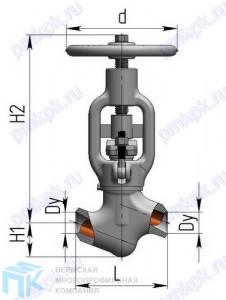 Вентиль запорно-проходной 1с-12-5