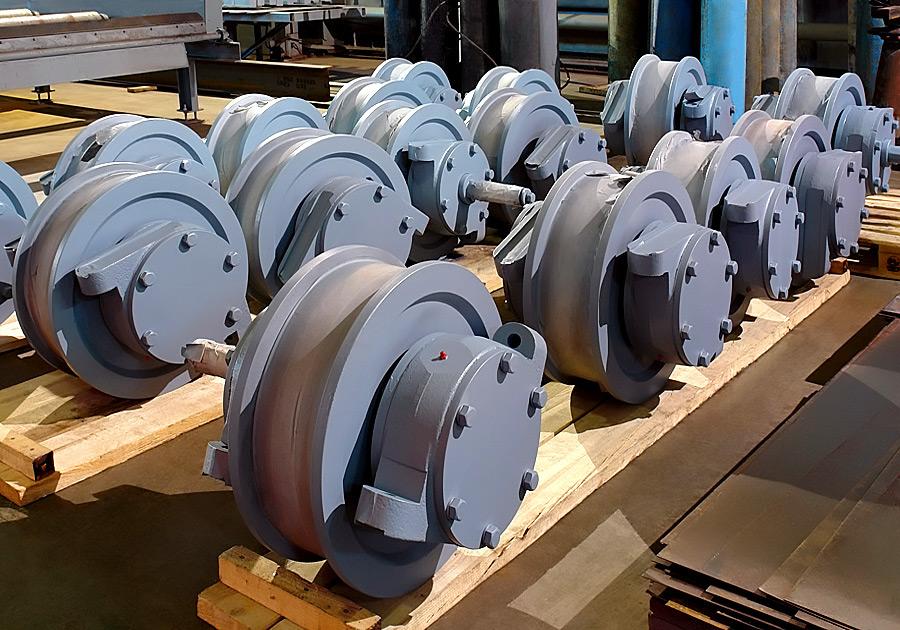 Замена колес мостового крана